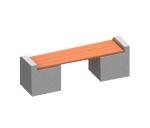 Скамья бетонная-1