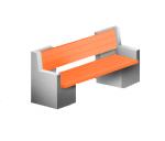 Скамья бетонная-2