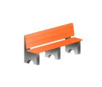 Скамья бетонная-4